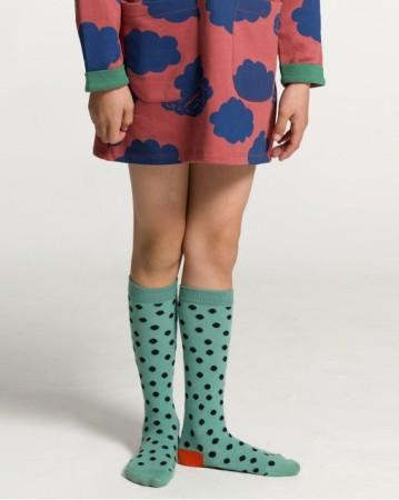 西班牙 碧玉西瓜小點點 中統襪