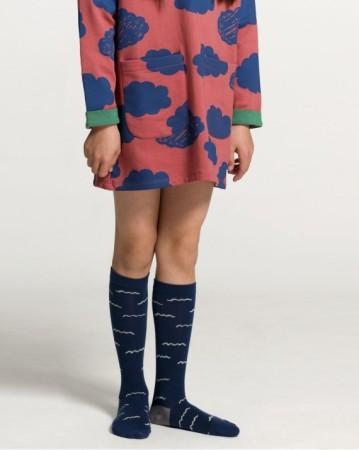 西班牙 池塘水波紋 中筒襪