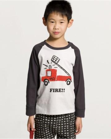 歐盟認證有機消防卡車長袖T恤