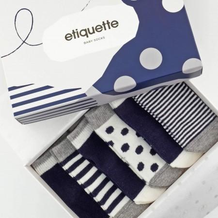 義大利Etiquette彌月襪子禮盒 0-12M