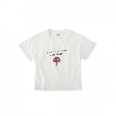 蘑菇 純棉柔軟T恤(象牙白)