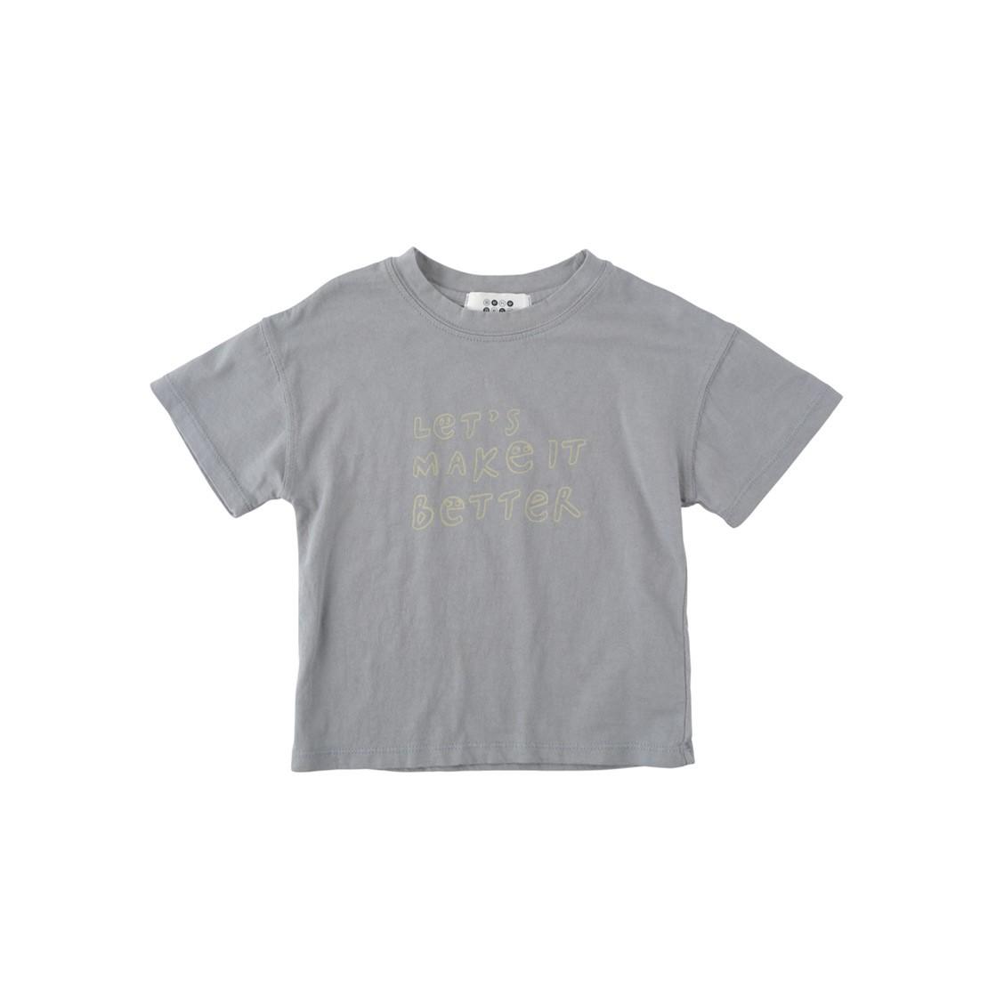 越來越美好 純棉柔軟T恤(灰藍色)