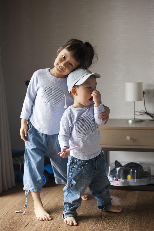 立體可愛大象純棉 T恤(紫羅蘭色)