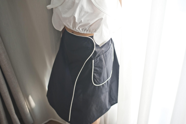 國際品牌設計師-流線短裙