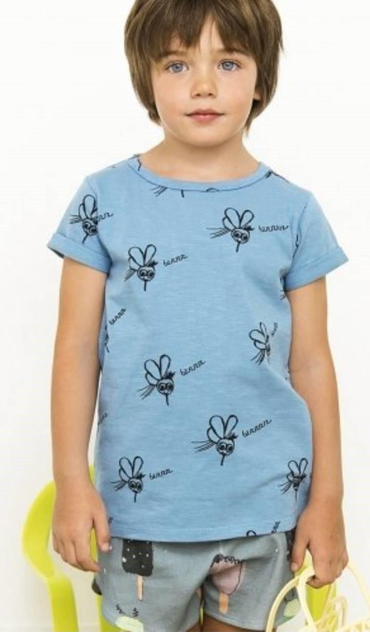有機棉  童趣手繪蚊子 T恤