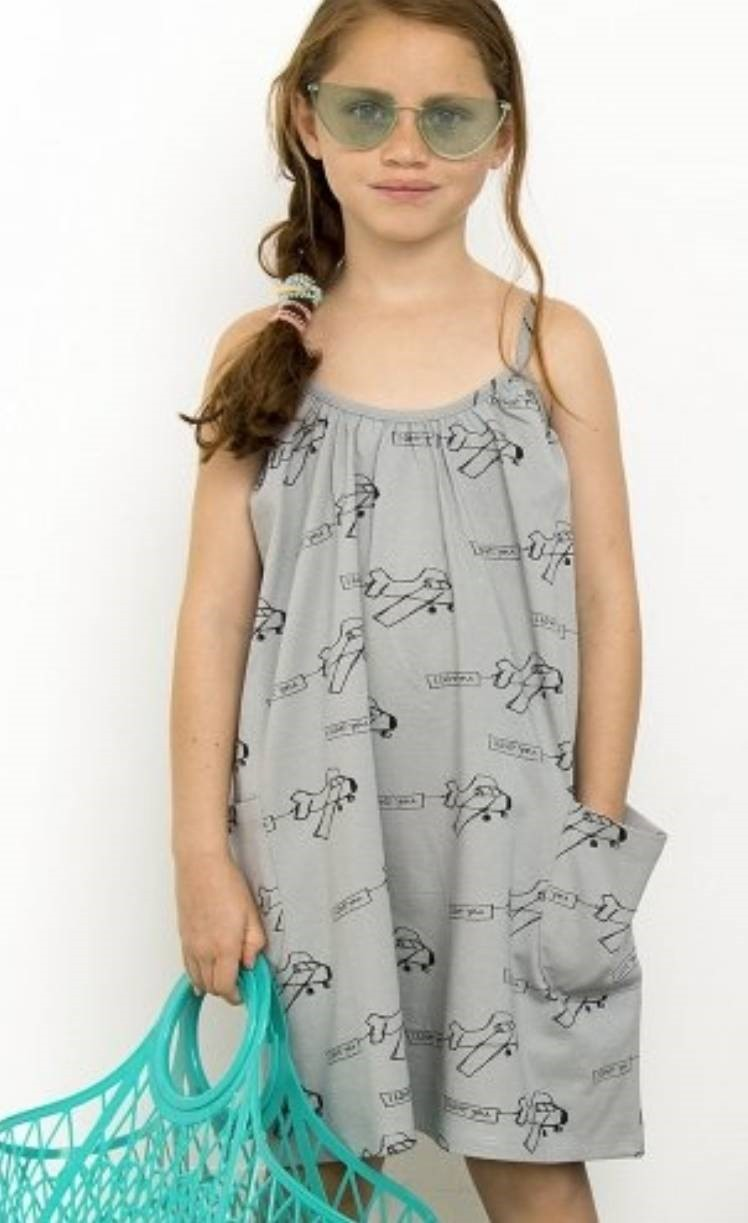 有機棉 帥氣飛機印花連身裙