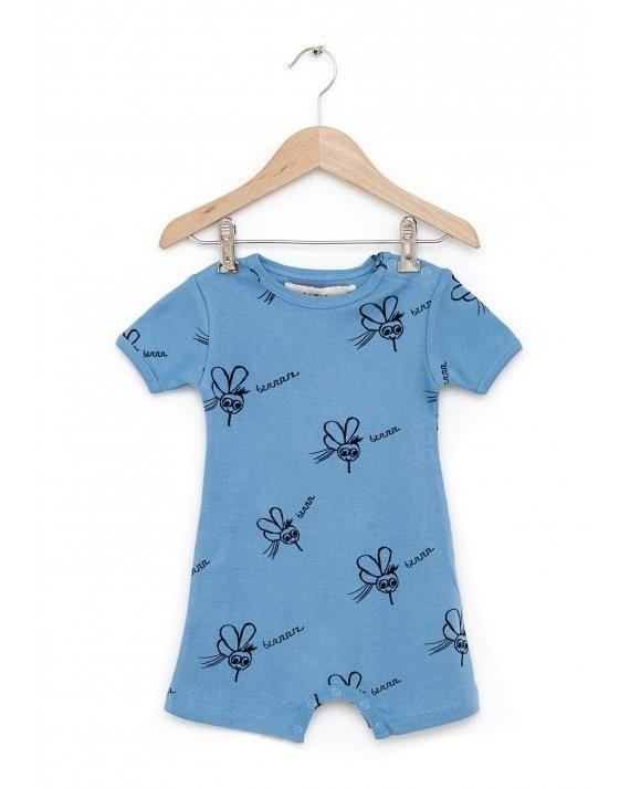 有機棉 童趣手繪蚊子連身衣
