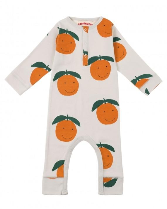 歐盟認證有機棉 好吉了橘子連身衣