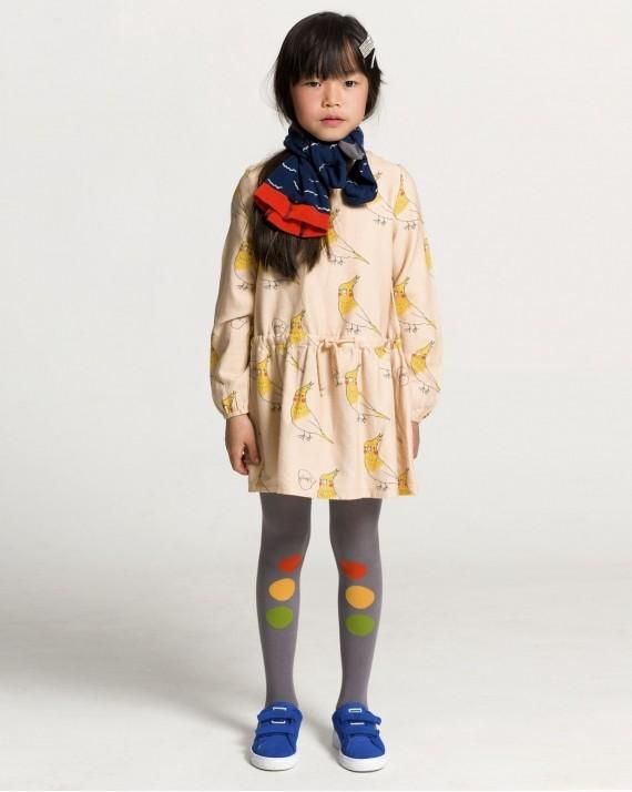 歐盟認證有機棉 吱吱叫的小鳥裙