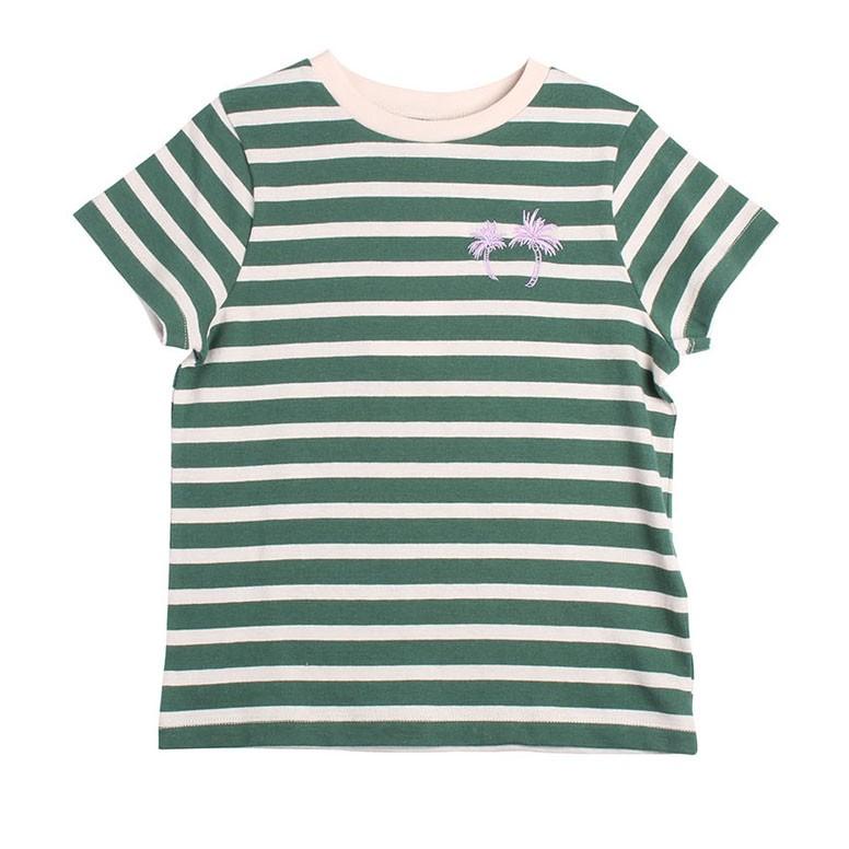 經典綠白條紋上衣