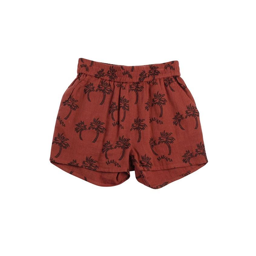 經典Habana棕梠樹棉紗舒適短褲