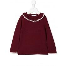 酒紅色長袖毛衣