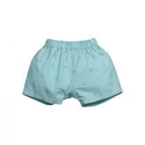 非洲小花圖案綠色短褲