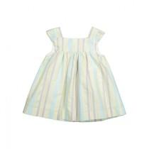 彩色直條連衣裙