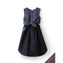 國際品牌設計師-藍綠色洋裝