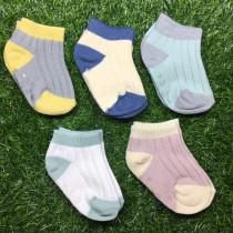雙拼短襪(五入)