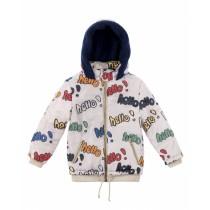 歐盟認證有機棉 哈囉保暖帽絨外套