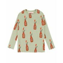 歐盟認證有機棉愛吃番茄醬長袖T恤