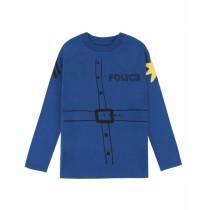 歐盟認證有機棉警察羅伊長袖T恤