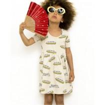 有機棉 (街頭風)手繪熱狗堡連身裙