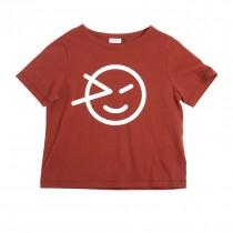 經典微笑T恤 艷陽紅