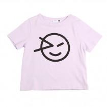 經典微笑T恤 薰衣草紫
