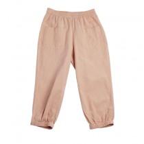 袖口粉橘舒適休閒褲