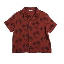 古巴領休閒襯衫(棕色)